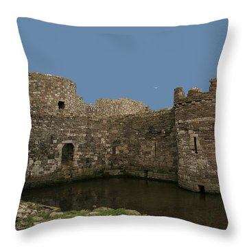 Throw Pillow featuring the photograph Beamaris Castle by Christopher Rowlands