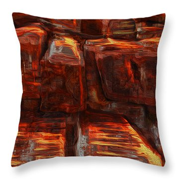 Beams Throw Pillow by Jack Zulli