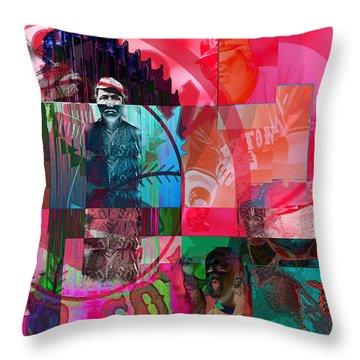 Bean Town Throw Pillow by Jimi Bush