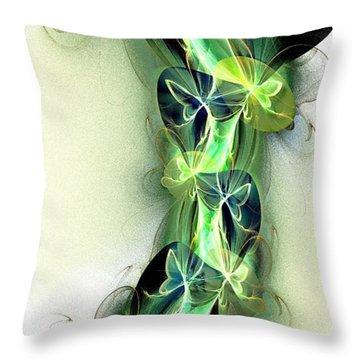 Beanstalk Throw Pillow by Anastasiya Malakhova