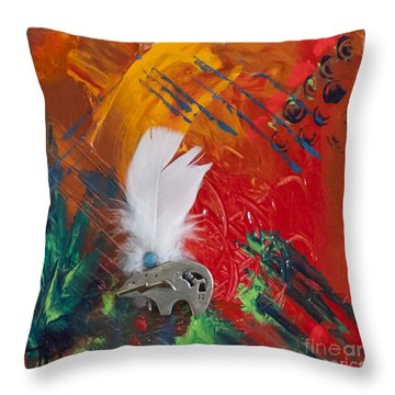 Bear Abstract Throw Pillow by Tracy L Teeter