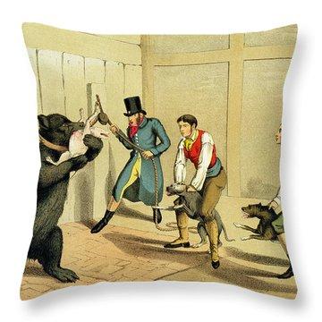 Bear Baiting Throw Pillow