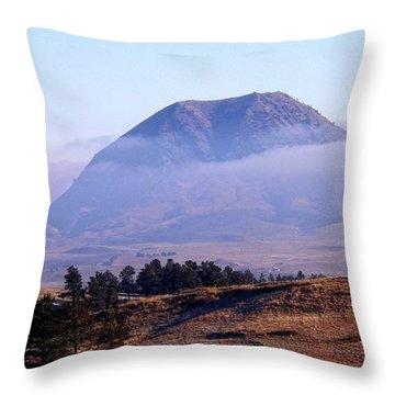 Bear Butte Fog Throw Pillow