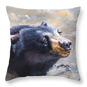 Four Winds Bear Throw Pillow