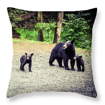 Bear Family Affair Throw Pillow