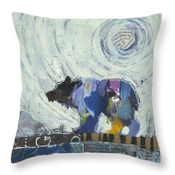 Bear IIi Throw Pillow by Shelli Walters