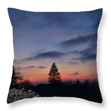 Bear Mountain Peaking Throw Pillow by Tom Mansfield