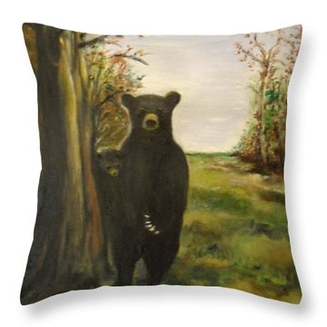 Bear Necessity Throw Pillow