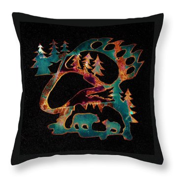 Blue Bears 2  Throw Pillow