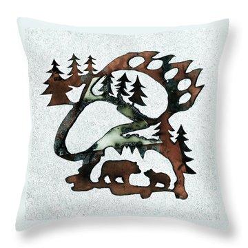 Bear Paw II 21 Throw Pillow
