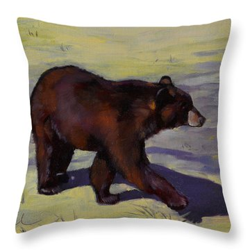 Bear Shadows Throw Pillow