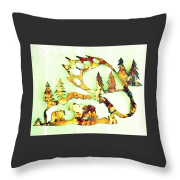 Bear Track 8 Throw Pillow