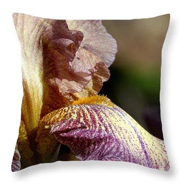 Bearded Iris #1 Throw Pillow