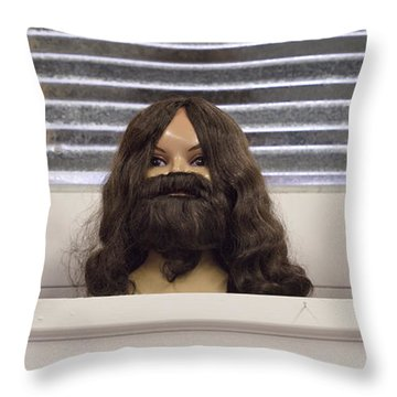 Bearded Lady Throw Pillow