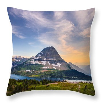 Bearhat Mountain Throw Pillow