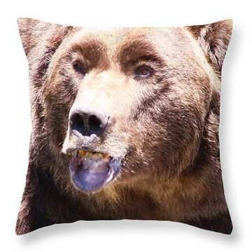 Bearing My Teeth Throw Pillow