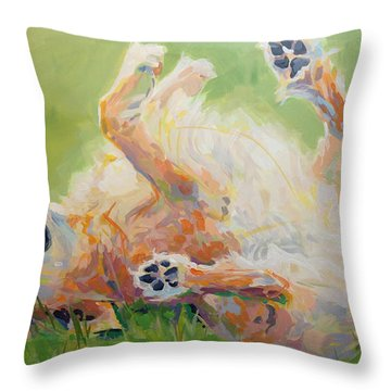 Bears Backscratch Throw Pillow by Kimberly Santini