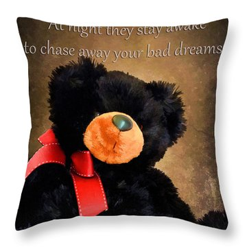 Bears Sleep By Day Throw Pillow by Darren Fisher