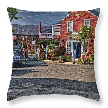 Bearskin Neck Throw Pillow by Mark Myhaver