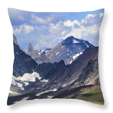 Beartooth Mountain Throw Pillow