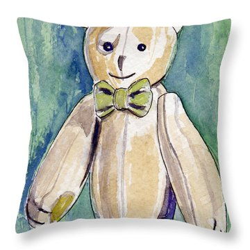 Beary Well Thank You Throw Pillow by Julie Maas