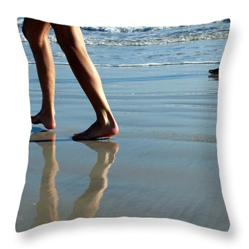 Throw Pillow featuring the photograph Beat Feet by Irma BACKELANT GALLERIES