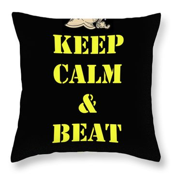 Beat Navy Throw Pillow
