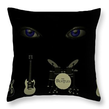Beatles Something Throw Pillow