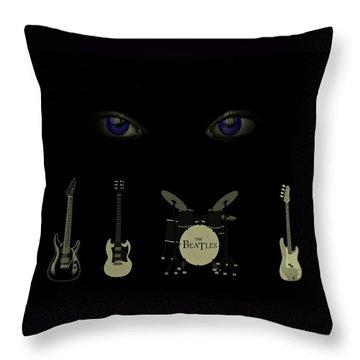 Beatles Something Throw Pillow