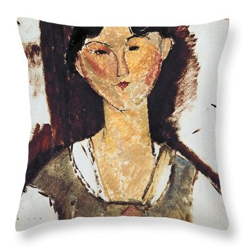 Beatrice Hastings Throw Pillow by Amedeo Modigliani