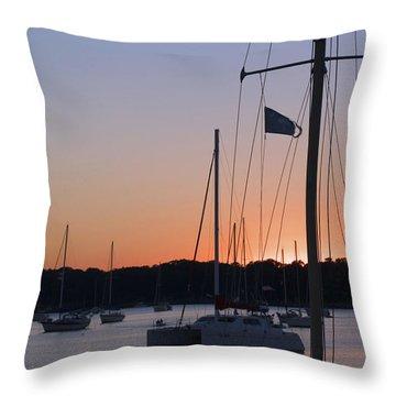 Beaufort Sc Sunset Throw Pillow