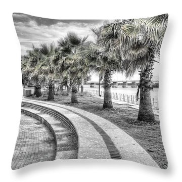 Beaufort Sc Water Front Park Throw Pillow