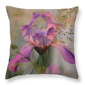 Beautiful And Mystical Iris  Throw Pillow