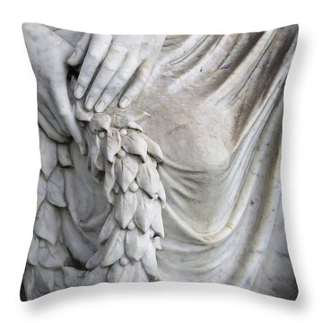 Beautiful Angel Healing Touch Throw Pillow