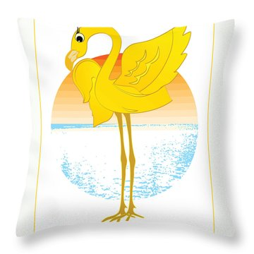Beautiful Is The Flamingo Throw Pillow by Stanley Mathis