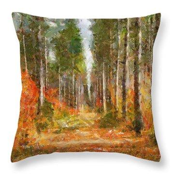 Beautiful Autumn Throw Pillow