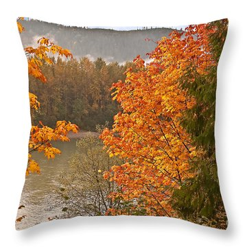 Beautiful Autumn Gold Art Prints Throw Pillow by Valerie Garner