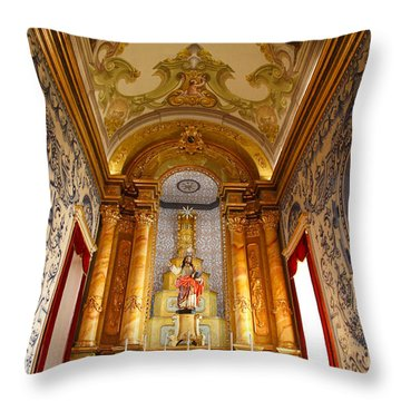 Beautiful Azorean Church Throw Pillow by Gaspar Avila