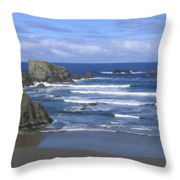 Throw Pillow featuring the photograph Beautiful Bandon Beach by Will Borden