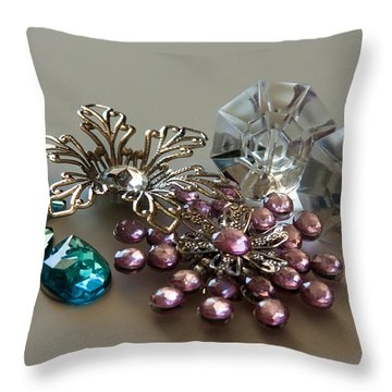 Beautiful Baubles Throw Pillow