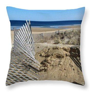 Beautiful Beach Day Throw Pillow