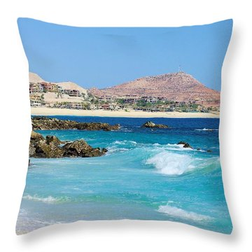 Beautiful Beach On The Sea Of Cortez Throw Pillow by John  Greaves