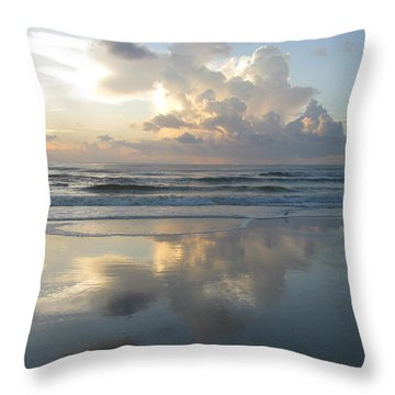Beautiful Beach Sunrise Throw Pillow by Ellen Meakin