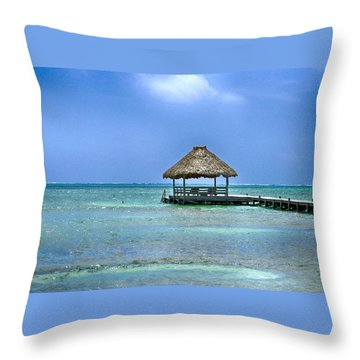 Beautiful Belize Throw Pillow by Kristina Deane
