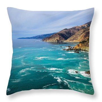 Throw Pillow featuring the photograph Beautiful Big Sur With Bixby Bridge by Priya Ghose