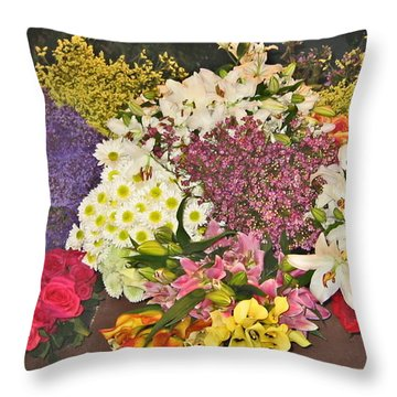 Beautiful Blooms Throw Pillow by Judith Morris