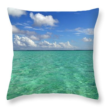 Beautiful Bora Bora Green Water And Blue Sky Throw Pillow