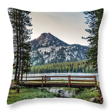 Beautiful Bridge View Throw Pillow by Robert Bales