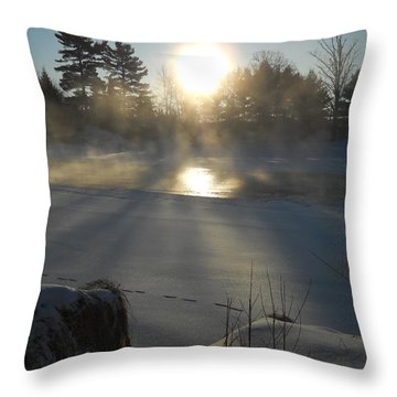Beautiful Brisk Morning Throw Pillow by Kent Lorentzen