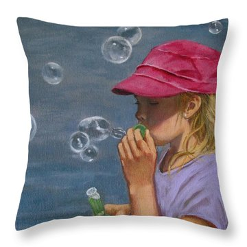 Beautiful Bubbles Throw Pillow by Joyce Geleynse